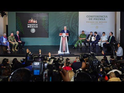 Exhorto a EUA para control de armas. Conferencia presidente AMLO