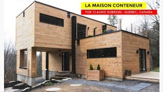 Claudie Dubreuil Shipping Container Home In Quebec, Canada