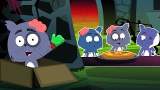 Три маленькие котята | Популярные детский стишок | Three Little Kittens | Scary Cartoon for kids