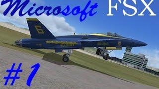 Flight Simulator X PC Gameplay #1 (Hong Kong with a F/A-18)