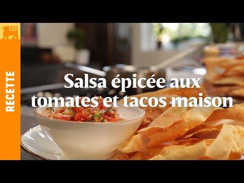 salsa-épicée-aux-tomates-et-tacos-maison