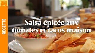 Salsa épicée aux tomates et tacos maison
