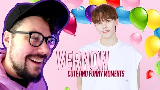 Mikey Reacts to SEVENTEEN VERNON CUTE AND FUNNY MOMENTS