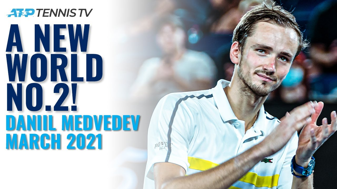 Daniil Medvedev: NEW WORLD NO.2!