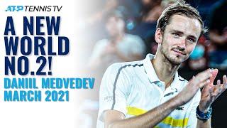 Daniil medvedev: new world no.2!