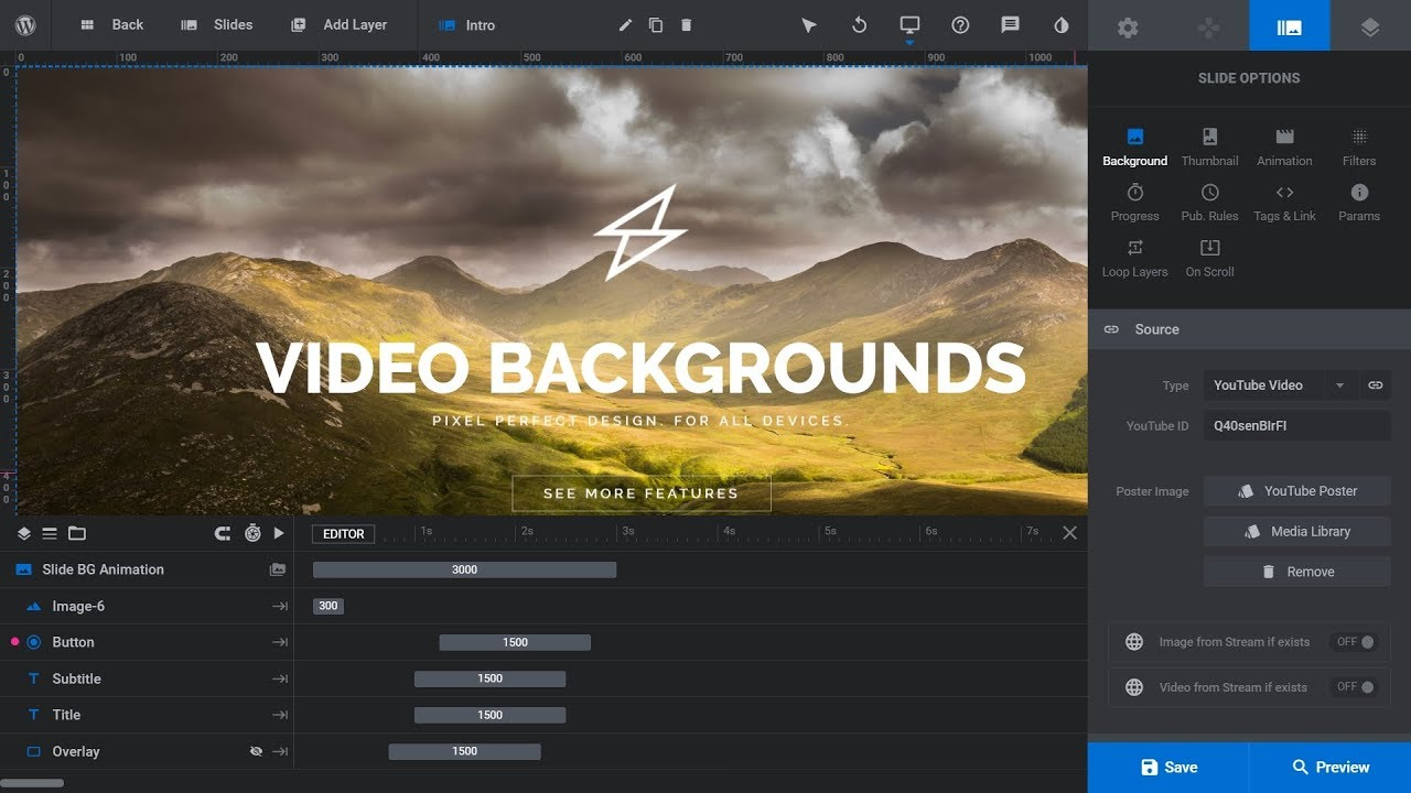 How To Use Video Backgrounds in Revolution Slider 6 WordPress Plugin