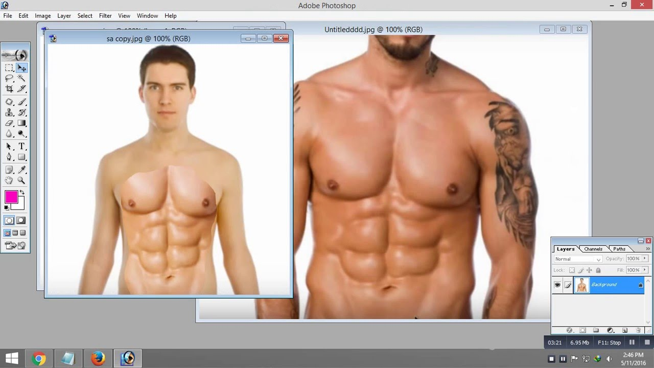 Photoshop Tutorial Get 6 Pack Abs in Photoshop 7.0 - YouTube