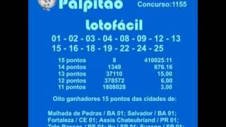 LOTOFACIL CONCURSO 1155  07012015