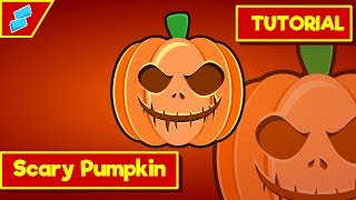 Inkscape Tutorial : How to make Scary Halloween Jack O'lantern Pumpkin Vector
