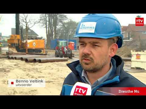 Niet heien, maar boren op bouwlocatie in Hoofdstraat Hoogeveen