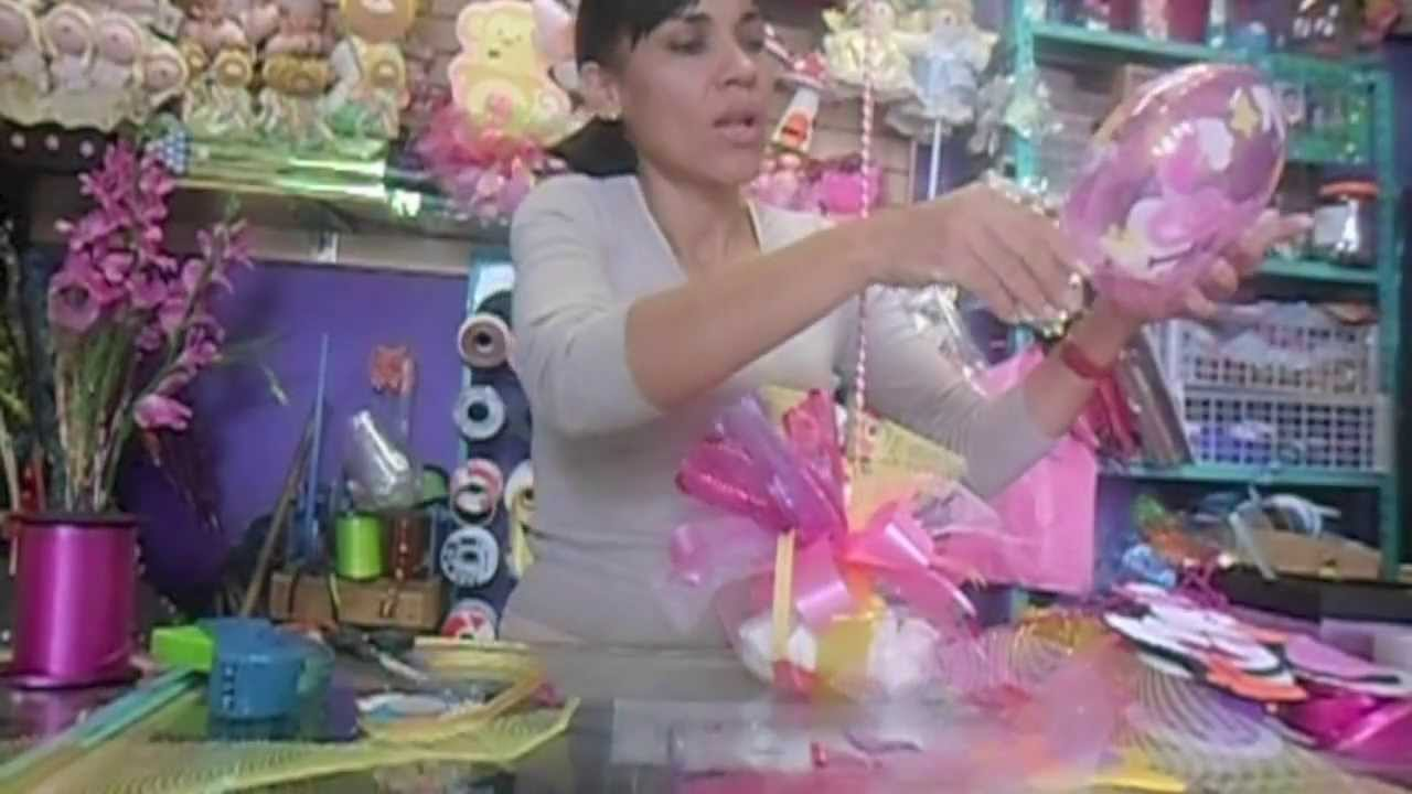 Centro de mesa baby shower manualidades de vero youtube - Centros de mesa para baby shower ...