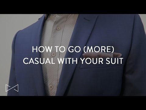 Easy And Stylish Ways To Dress Down Your Suit