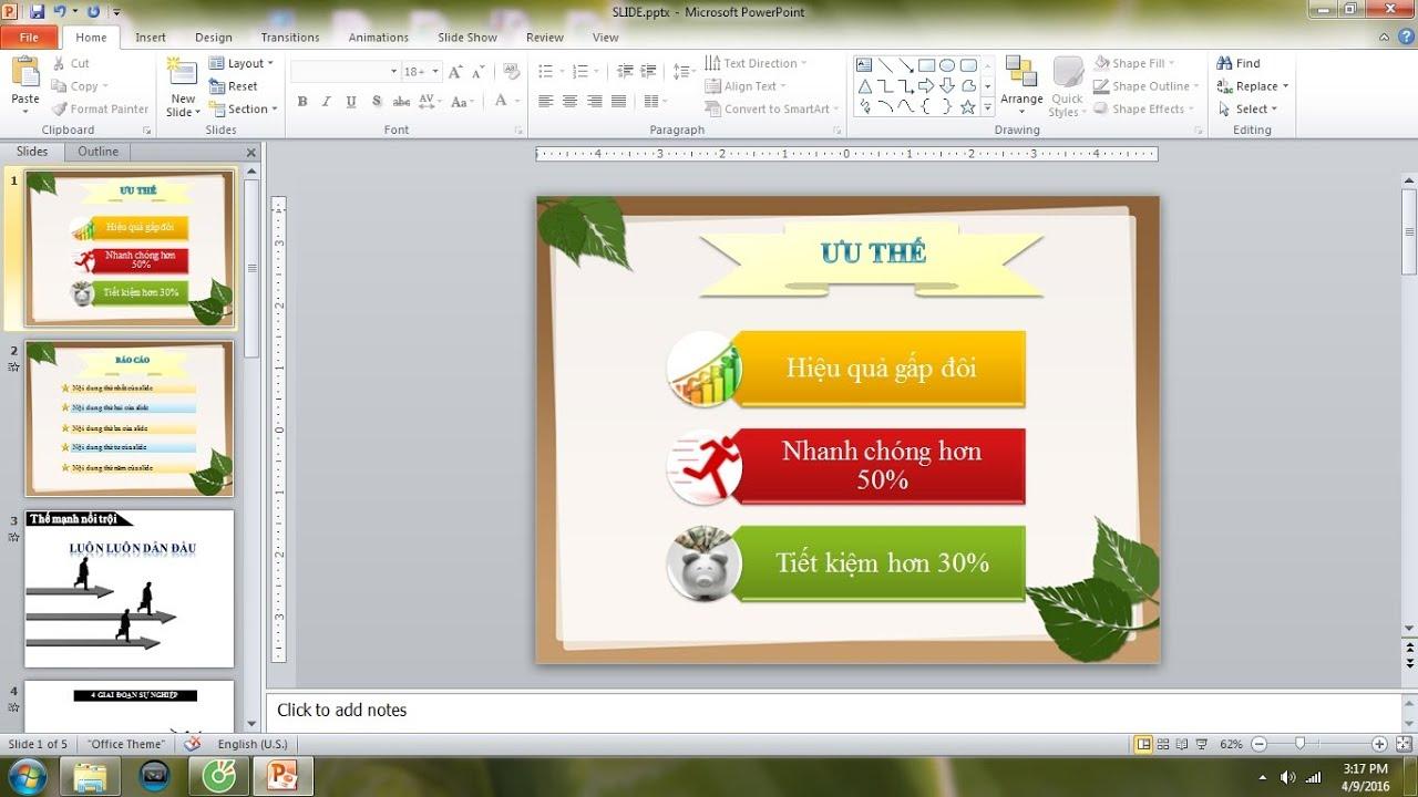 Cách làm slide trở nên chuyên nghiệp hơn - Hướng dẫn Powerpoint 2010 cơ bản
