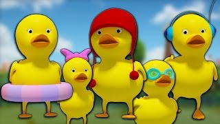 cinq petits canards   rime pour les enfants   nursery rhyme   chanson bébé   Five Little Ducks