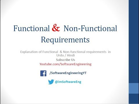 functional and nonfunctional requirements in software engineering in hindi / urdu
