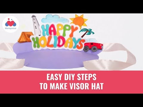 How To Make Visor Hat | Summer DIY Ideas For Kids | Paper Craft | Momspresso
