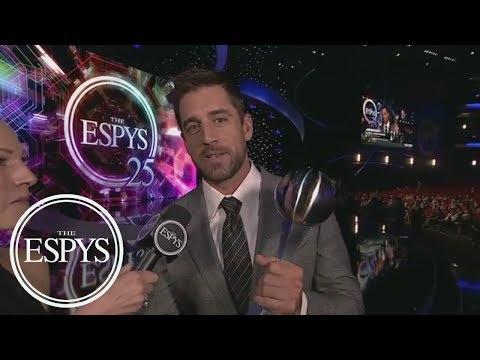 Aaron Rodgers Wins Best NFL Player | The ESPYS | ESPN