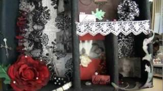 Elegant Detailed Shadow Box/ Altered Wall Hanging/ Display Shelf.