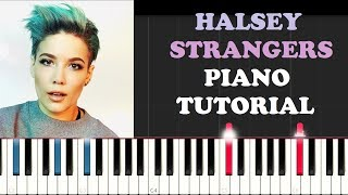 Halsey ft Lauren Jauregui - Strangers (Piano Tutorial )