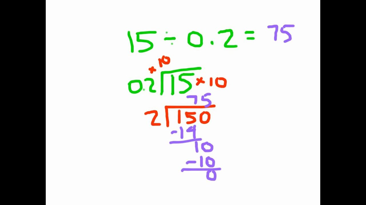 Dividing a Whole Number by a Decimal - YouTube