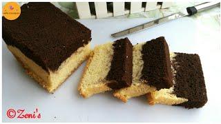 চকলেট ভ্যানিলা লেয়ারড কেক | Chocolate vanilla layered cake | Easy tea time Cake recipe