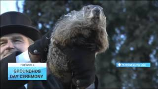 Groundhog Day Ceremony: Groundhog predicts an an early spring?