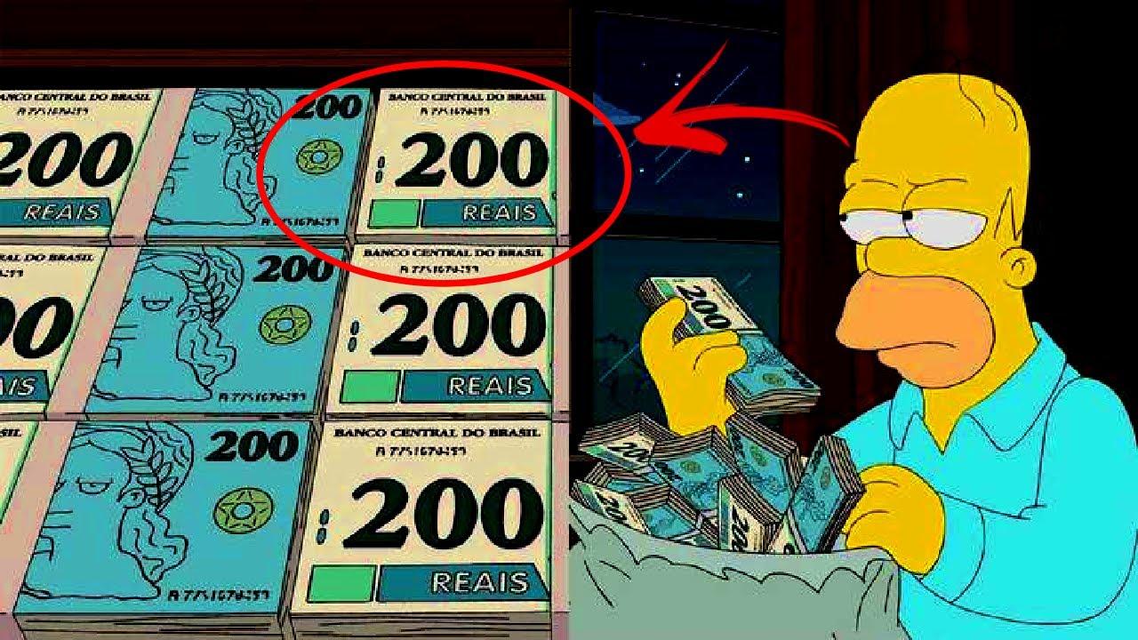 SIMPSONS PREVIRAM A NOTA DE 200 REAIS! Eles acertaram de novo!