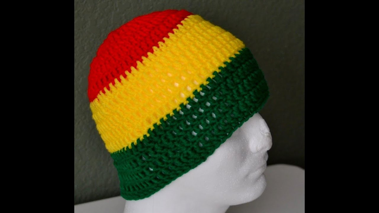 Crochet Rasta Beanie by Africancrab - YouTube