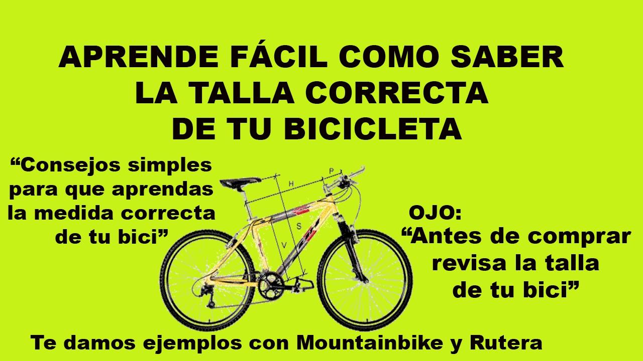 RUTA CLETA - COMO SABER LA TALLA DE UNA BICICLETA DE MANERA FÁCIL Y ...