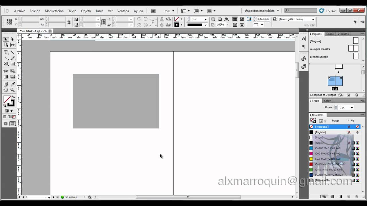 InDesign Básico - Páginas Maestras - Estilos - Color - YouTube