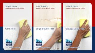 Dulux Wash & Wear Product demonstration