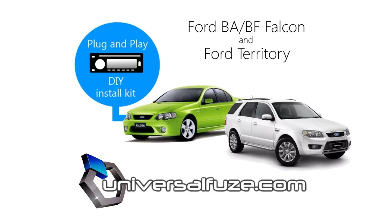 Ba Bf Falcon Or Ford Territory Audio Unit Head Installation Midland Cb Mic Wiring Diagram Kit