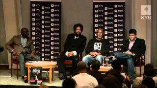 Dr. John Carlos, Dr. Cornel West, and Dave Zirin at NYU