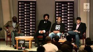 Dr. John Carlos, Dr. Cornel West, and Dave Zirin at NYU