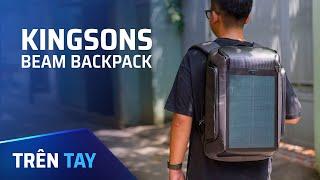 Trên tay ba lô pin mặt trời Kingsons Beam Backpack