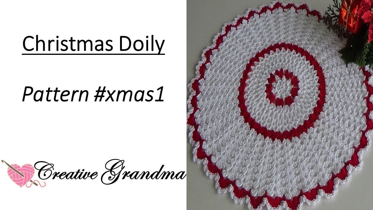 Christmas Lace Crochet Doily Tutorial - Holiday Crochet - YouTube