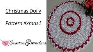 Video Christmas Lace Crochet Doily Tutorial  -  Holiday Crochet download MP3, 3GP, MP4, WEBM, AVI, FLV Juli 2018