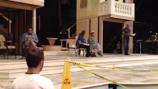 """Day 2 rehearsal-""""Dirty Rotten Scoundrels"""" at Arvada Center"""
