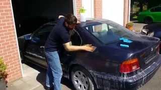 Пример локальной покраски баллончиком(В этом видео-заключительный этап бюджетного кузовного ремонта BMW Тимура, сделанный в обмен на обклейку..., 2015-05-26T17:00:07.000Z)