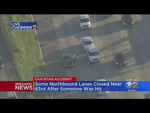 Dan Ryan Partially Shut Down After Man Is Hit By car - YouTube