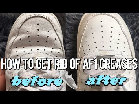 How to get rid of air force creases | Cheeks💘