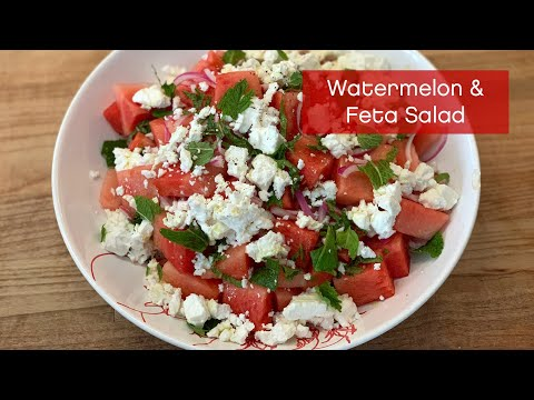 How to Make a Watermelon and Feta Salad – It's Easy AF!
