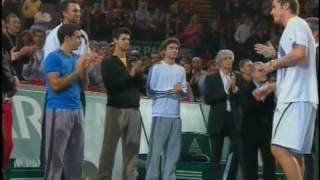 2009 Paris Safin vs Del Potro ceremony
