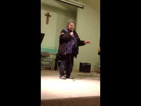 Grandma Liz singing amazing grace in Tlingit