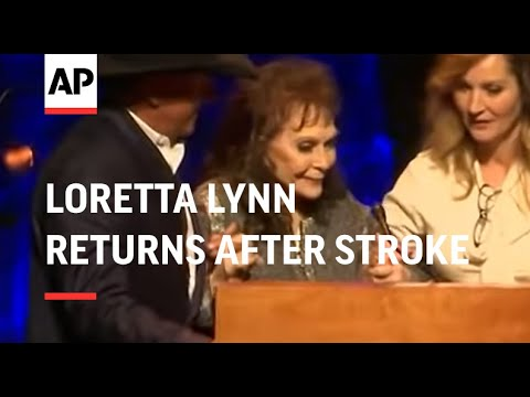 Loretta Lynn returns after stroke to honor Alan Jackson at Country Music Hall of Fame induction