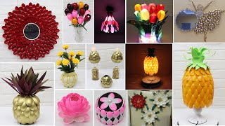 13 Home decorating ideas handmade with Plastic Spoons