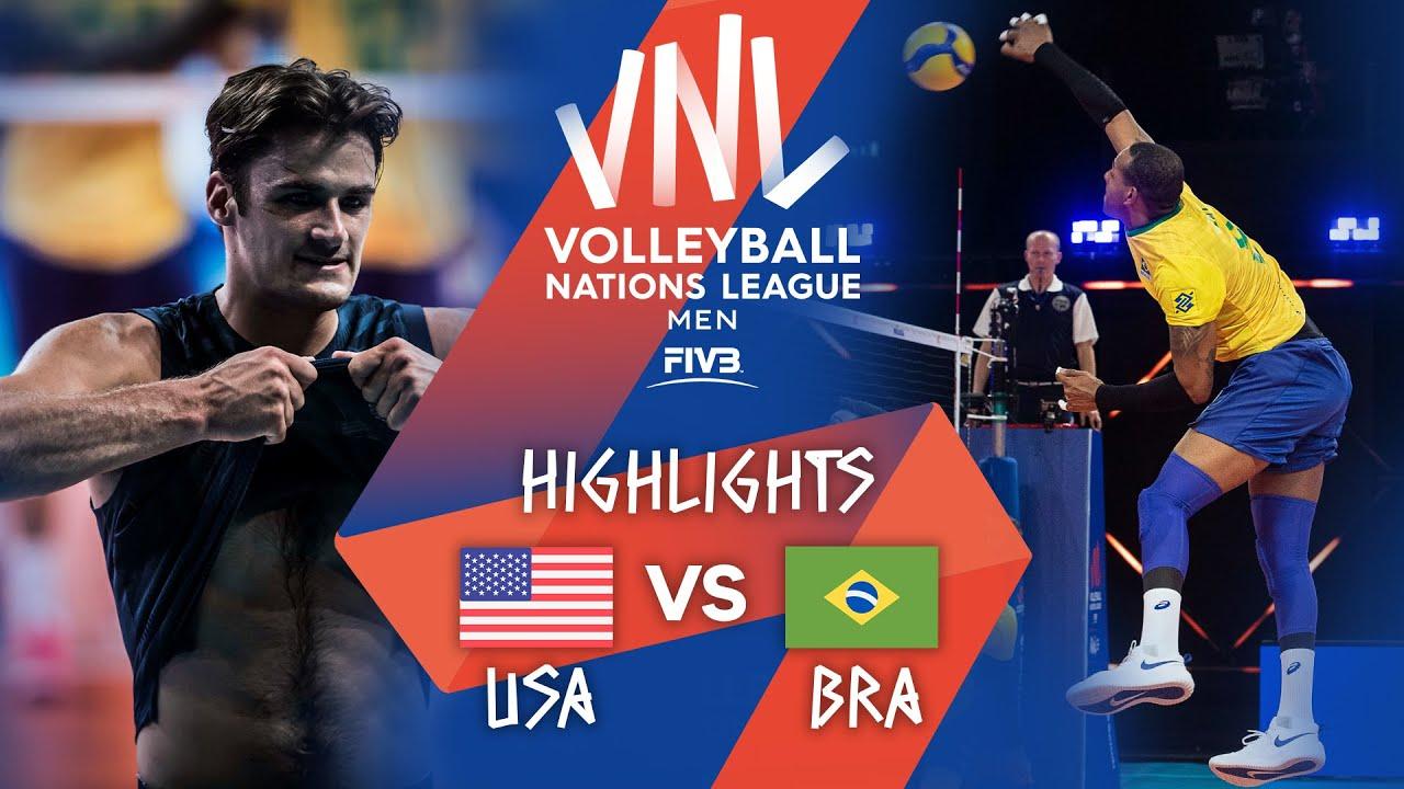 Download USA vs. BRA - Highlights Week 1 | Men's VNL 2021