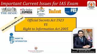 Official Sectrel Act vs RTI- By Abhishek Aggarwal MD SSM Sharda Educations PVT LTD
