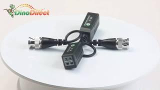 single channel UTP passive video balun for surveillance camera,203C