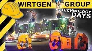 Wirtgen Group - Road Technology Days 2018 mit Baumaschinen in Aktion